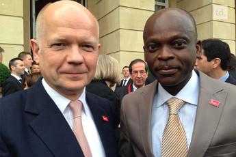 William Hague et Robert Dussey jeudi à Londres